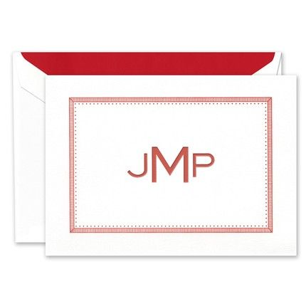 Striped Frame Note Card