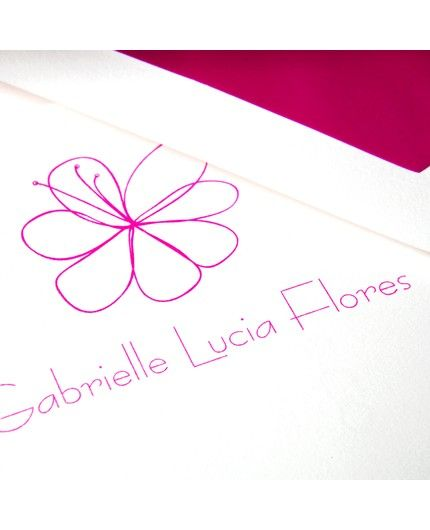 Raspberry Flower Letterhead
