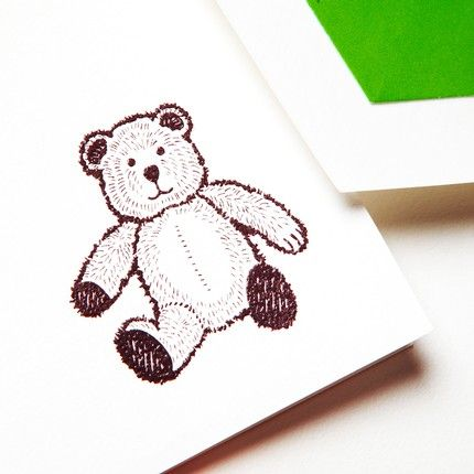 Teddy Bear Note Card