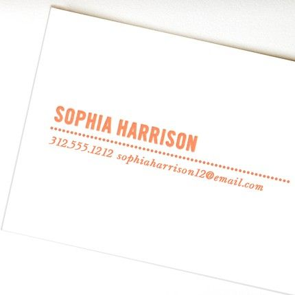 Dotted White Calling Card