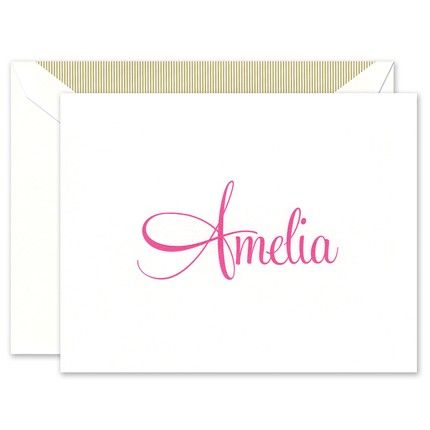 Large White Note Card