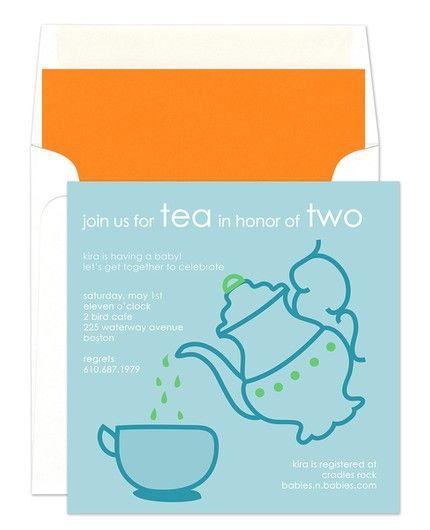 Blue Spot of Tea Invitation