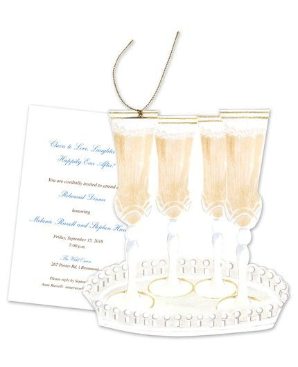 Champagne Glass Invitation