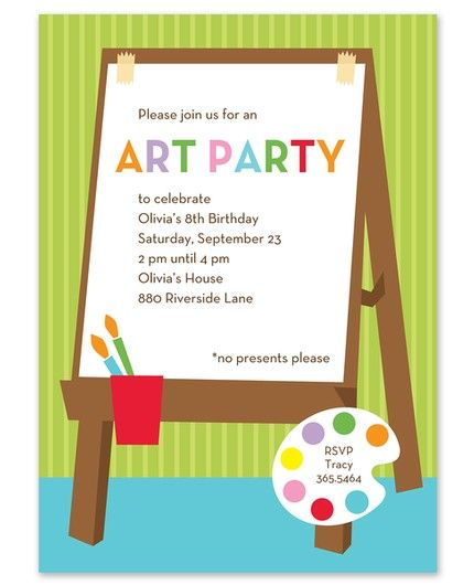 For Art's Sake Invitation