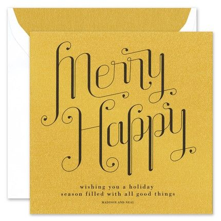 Merry Happy Greeting Card