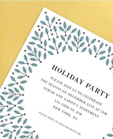 Winter Holly Invitation