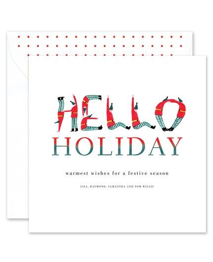 Elf Holiday Greeting Card