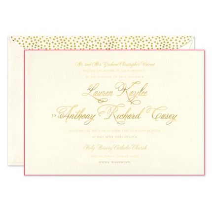 Magenta Edge Invitation