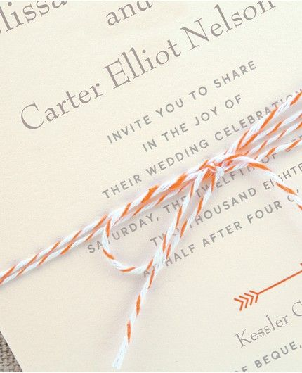 Baker's Twine Invitation