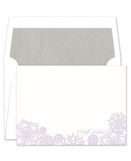 Purple Floral Flat Card