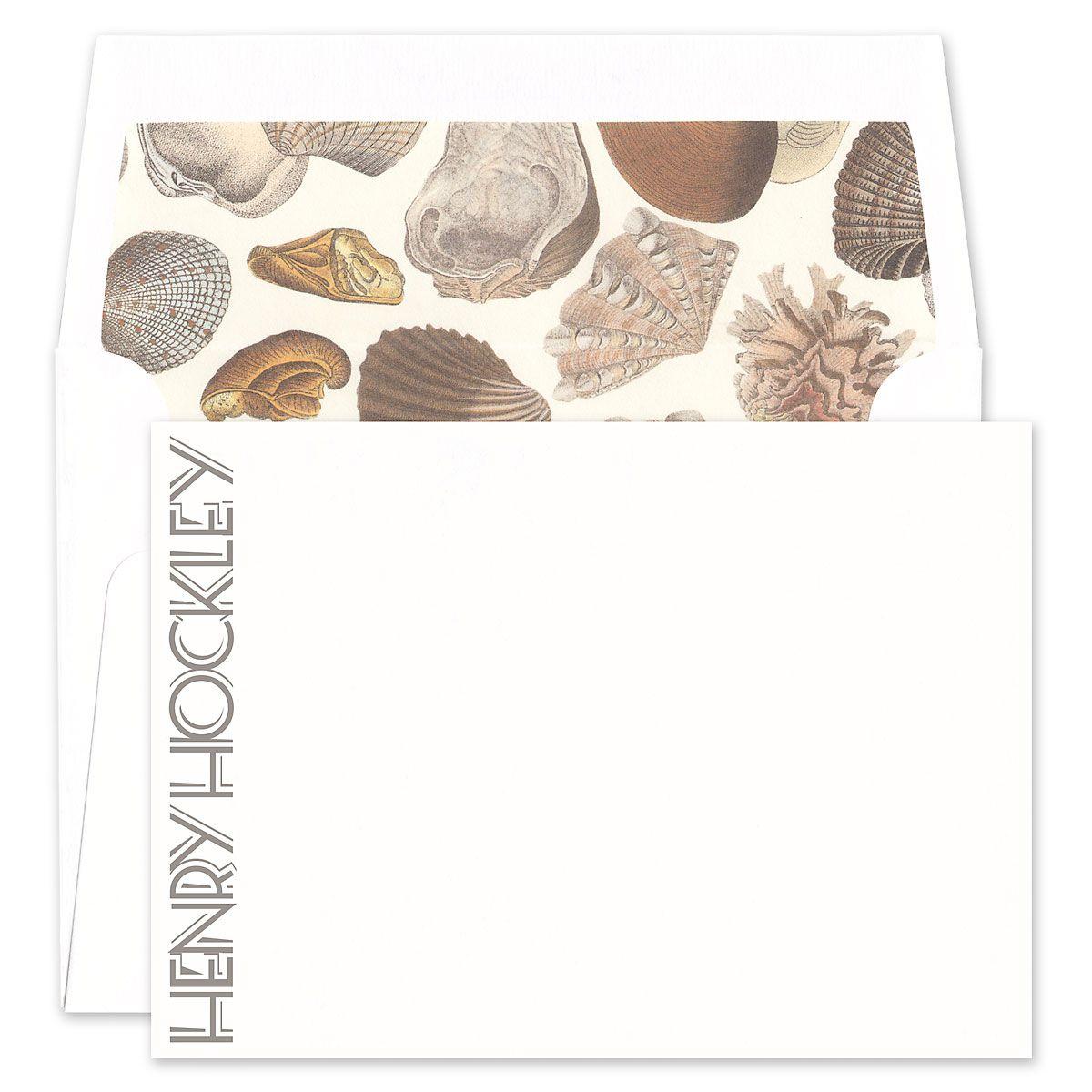 Vertical Name Flat Card