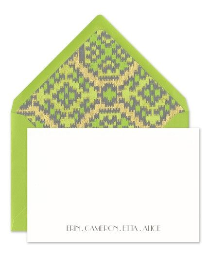 Lime & White Flat Card