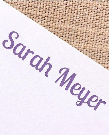 Gray & White Flat Card