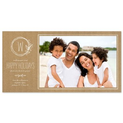 Woodsy Wreath Photo Card
