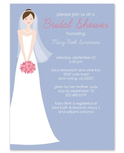 Brunette Bride Invitation