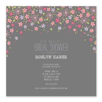 Floral Confetti Invitation