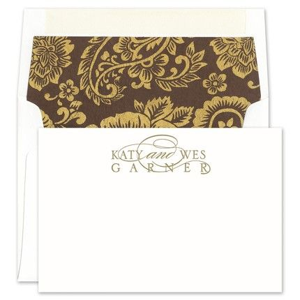 Brown Silk Stationery Box