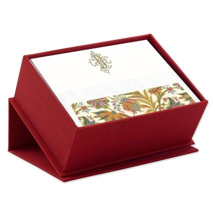 Red Silk Stationery Box