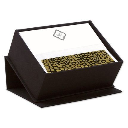 Black Silk Stationery Box