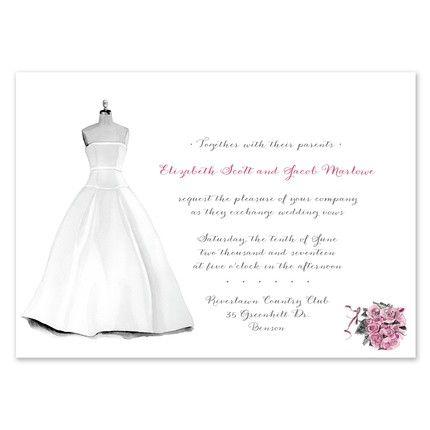 Dress Form Invitation