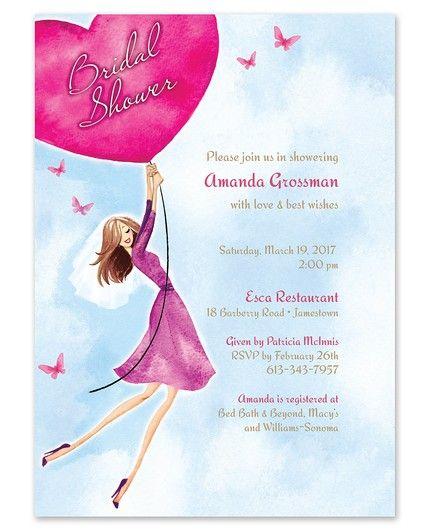 Heart Balloon Invitation