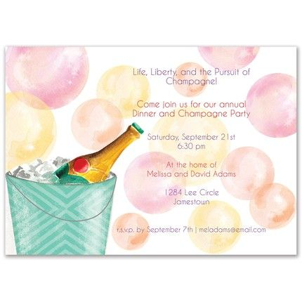 Champagne Bubbles Invitation