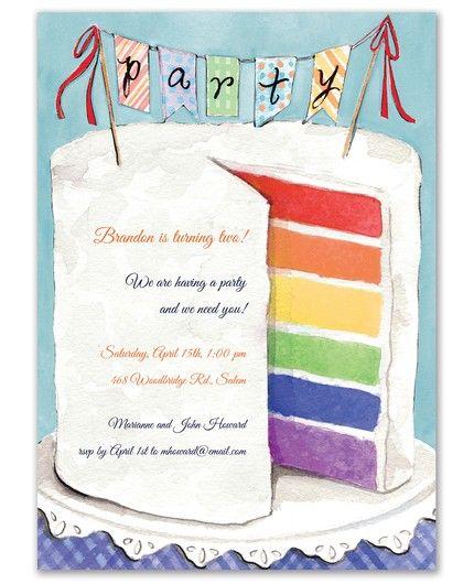 Colorful Cake Invitation