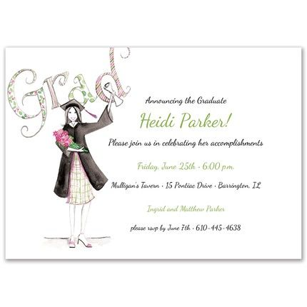 Diploma Girl Invitation