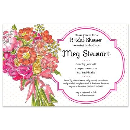 Bright Bouquet Invitation
