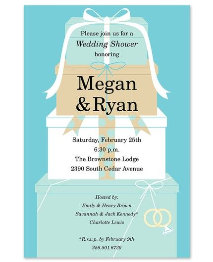 Wedding Stack Invitation