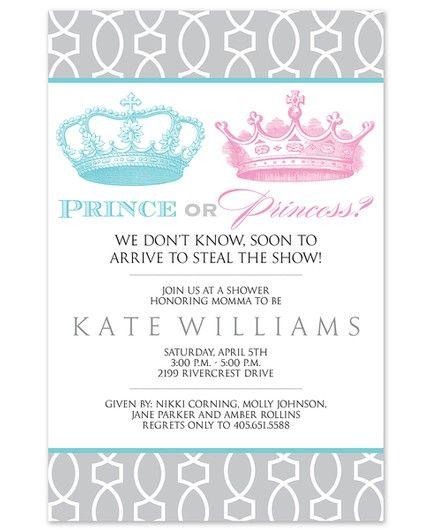 Royal Reveal Invitation