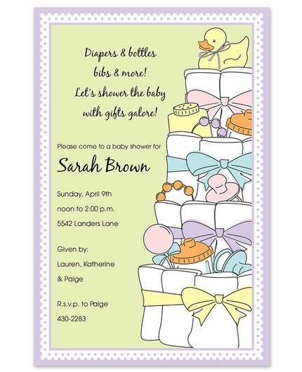 Diaper Cake Invitation