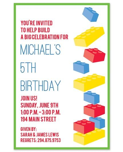 Building Fun Invitation