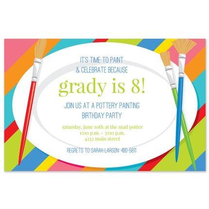 Kid's Paint Invitation