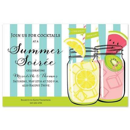 Summer Jars Invitation