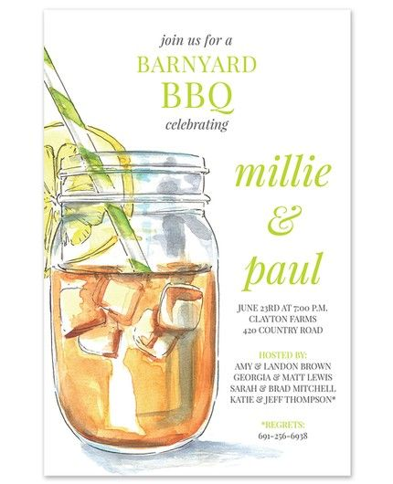 Iced Tea Invitation