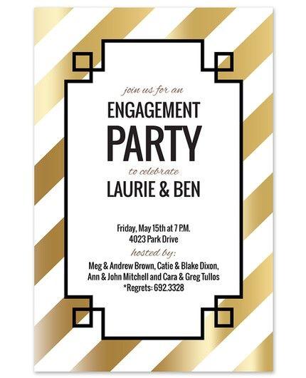 Gold Diagonal Invitation