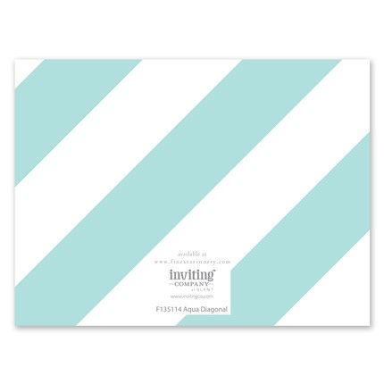 Aqua Stripe Note Card