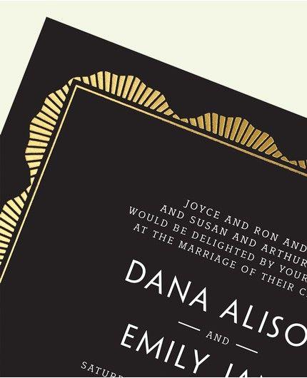 Black Art Deco Invitation