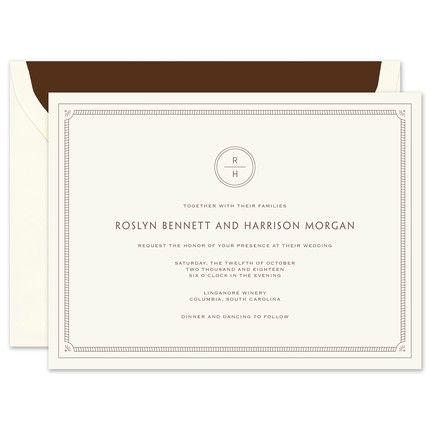 Ecru Frame Invitation