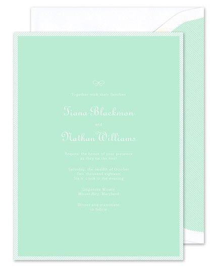 Sea Glass Stripe Invitation