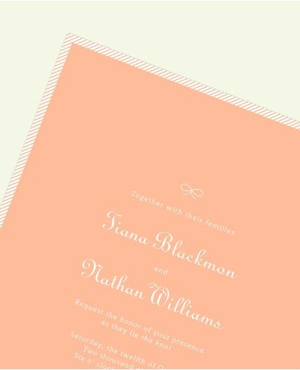 Peach Stripe Invitation