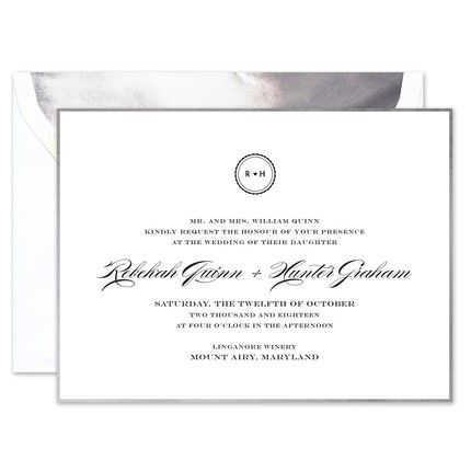White & Silver Invitation