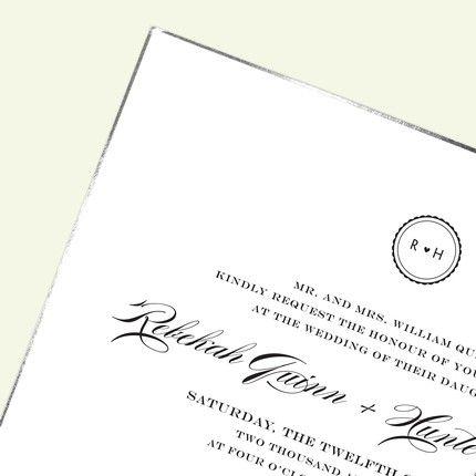White & Silver Invitation