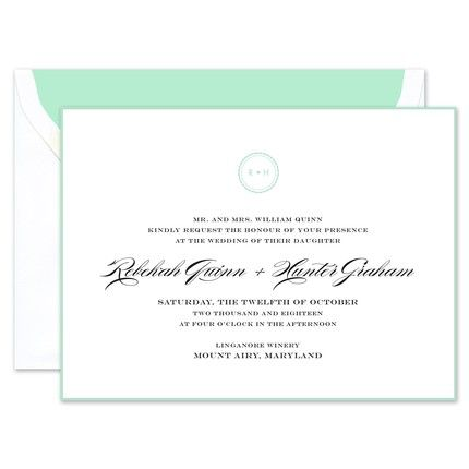 Sea Glass Border Invitation