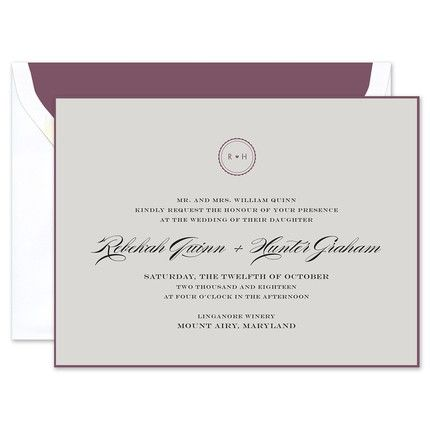 Gray & Eggplant Invitation