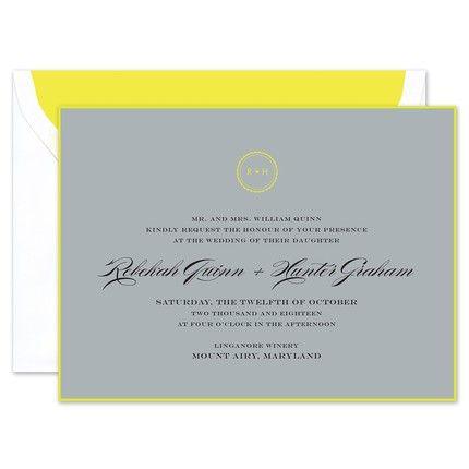 Fluoro Citron Invitation