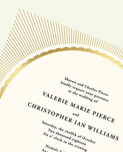 Radiant Gold Invitation