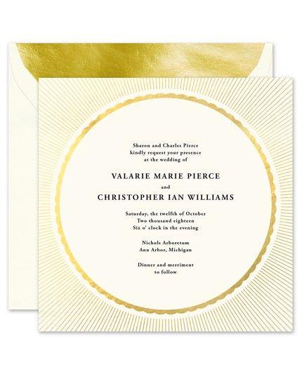 Radiant Gold Invitation
