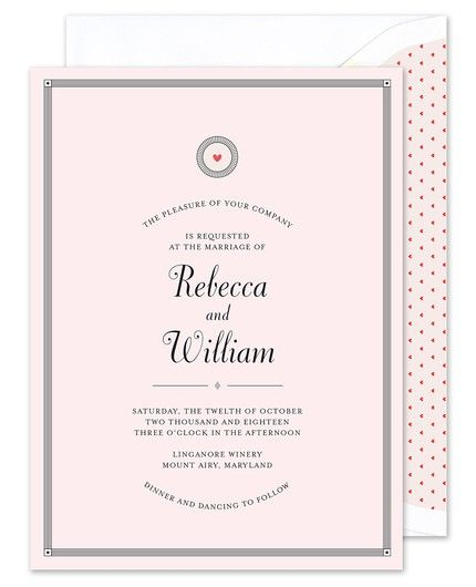 Pink Heart Invitation